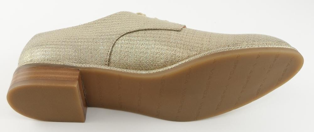 Via Spiga: Gold Metallic Fabric 'IVETTE' Oxfords