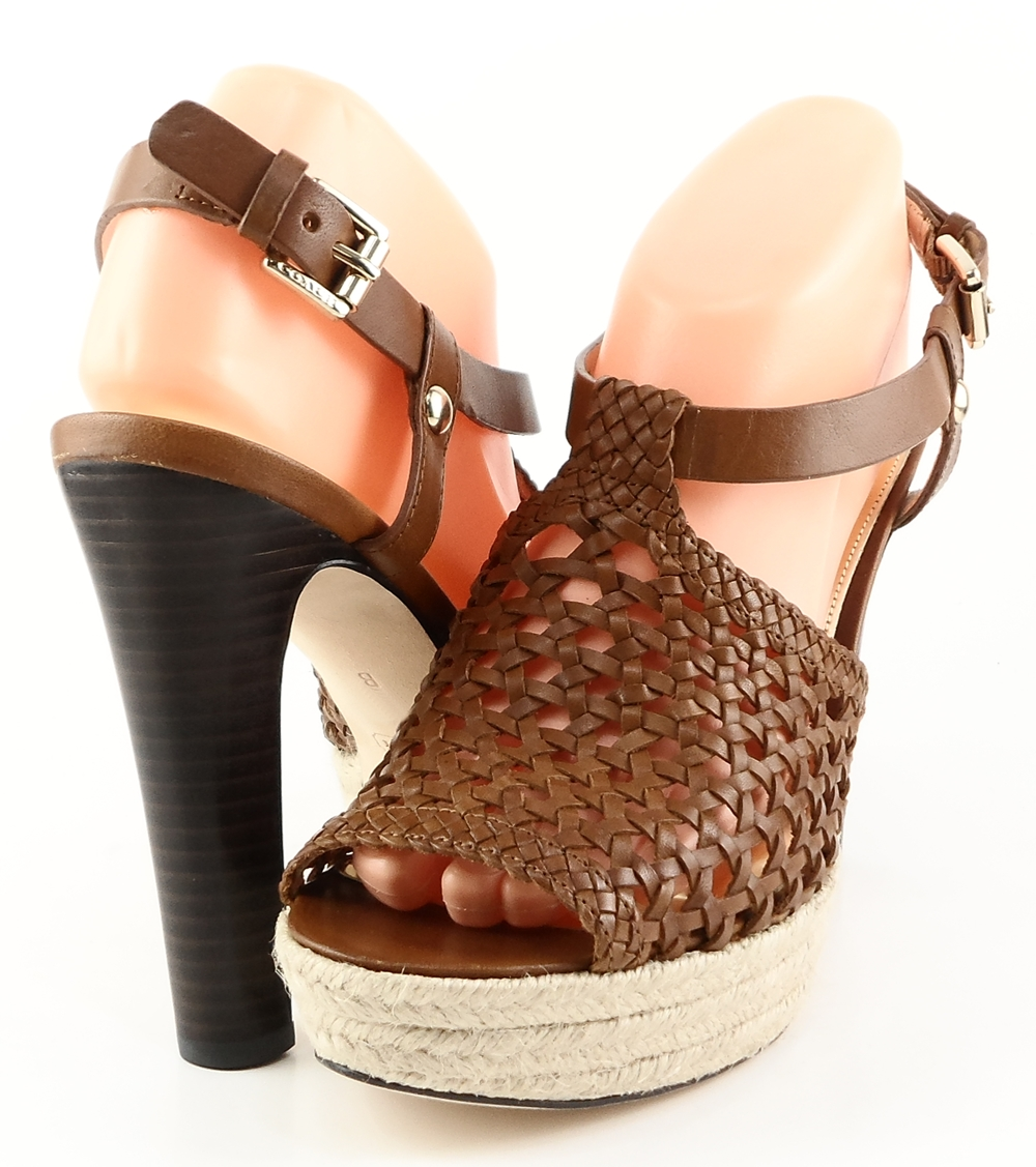 style #G8784 Brown Cowboy Leather 'ZANY ' Platforms,Wedges