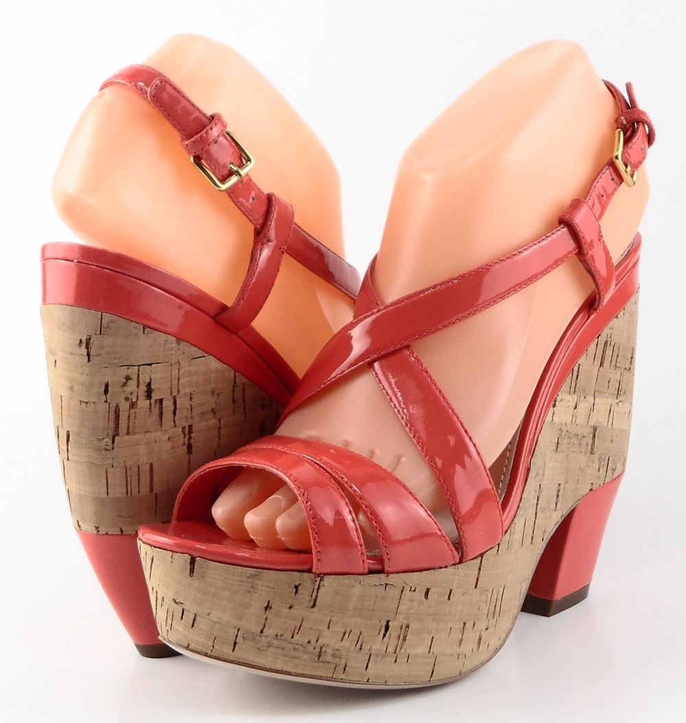 style #A6642 Coral Patent '5XZ122' Platforms,Wedges