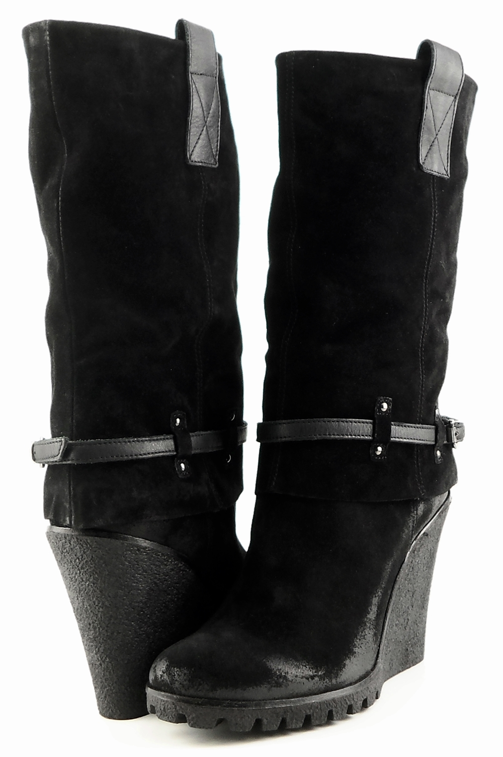 style #B1158 Black Suede '9065' Boots