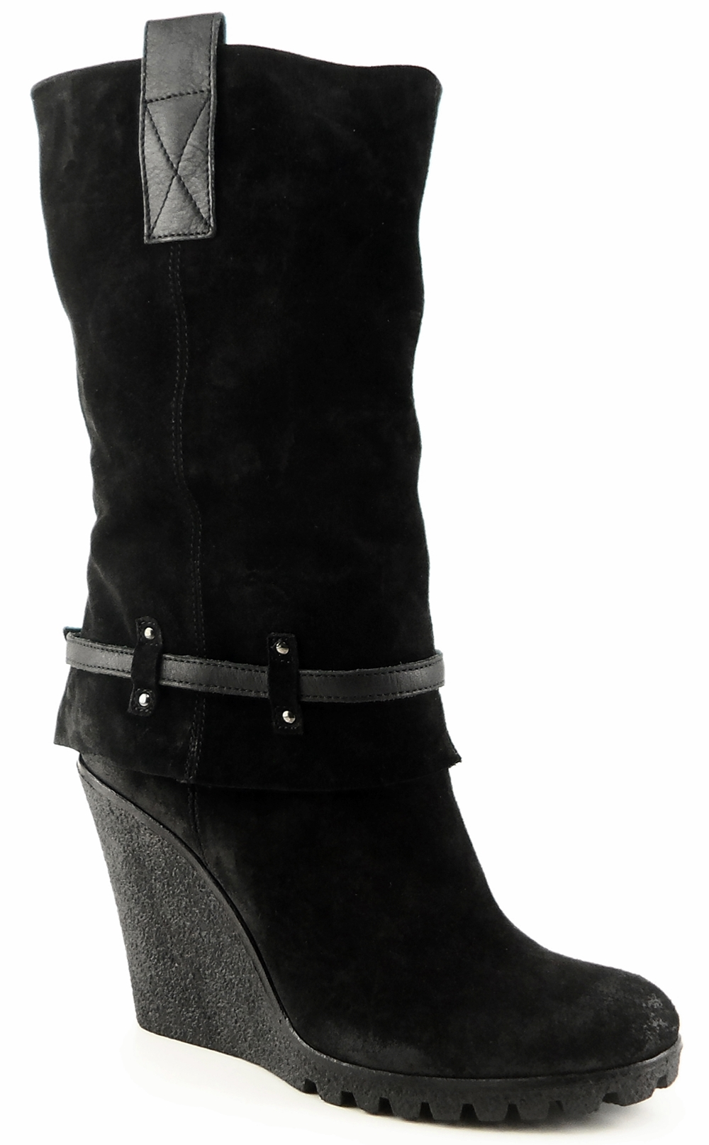 NOW: Black Suede '9065' Boots