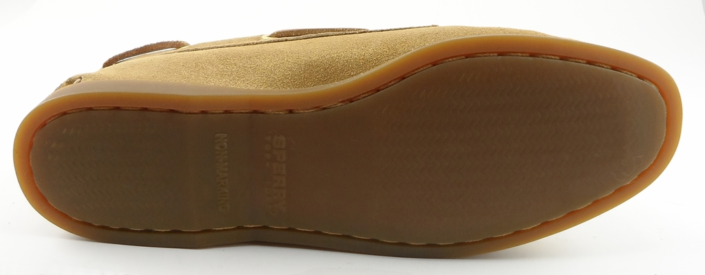 Sperry Top-Sider: Gold Sparkle Suede 'A/O' Flats