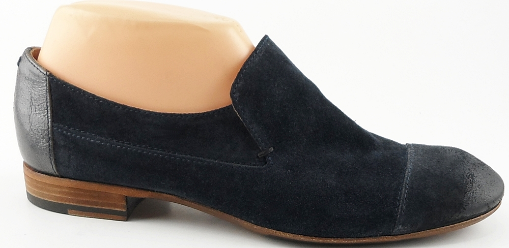 NOW: Navy Suede '4880' Loafers