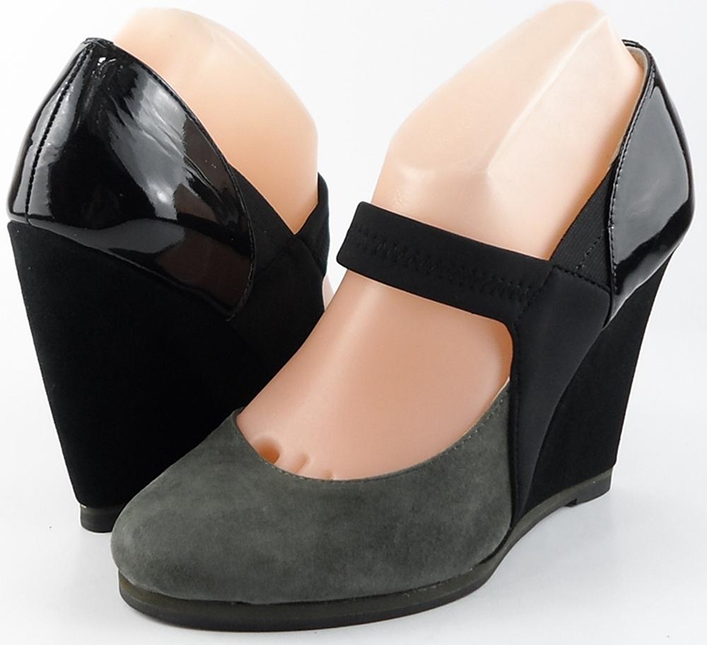 style #A7333 Grey Black Suede 'RILEY' Pumps