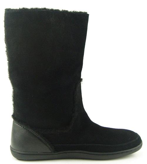 coach mishka black suede shearling fur trim womens shoes