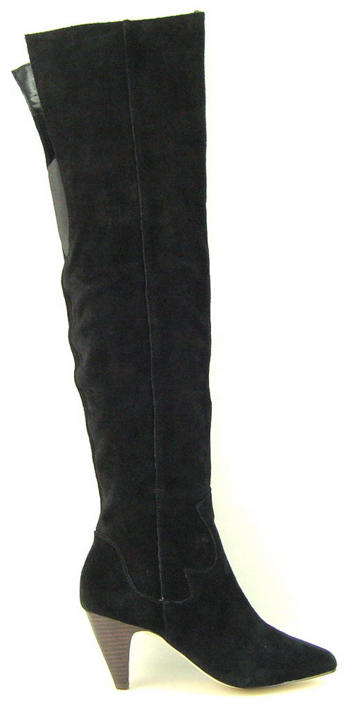 dolce vita nathaniel black suede the knee womens boots 6