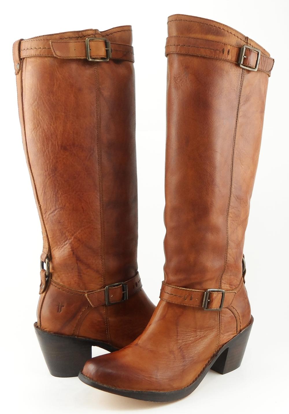 frye saddle leather designer mexico inside zip knee