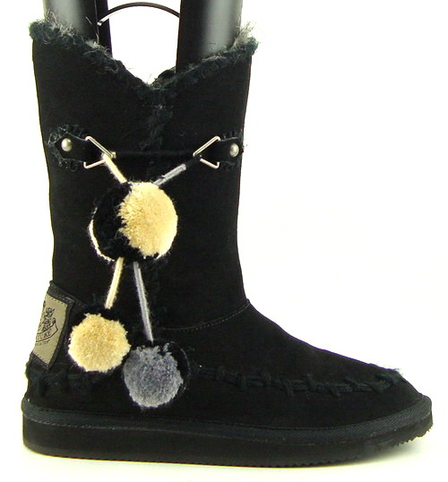 JUICY COUTURE MARGOT Black Suede Womens Shoes Boots 5 | eBay