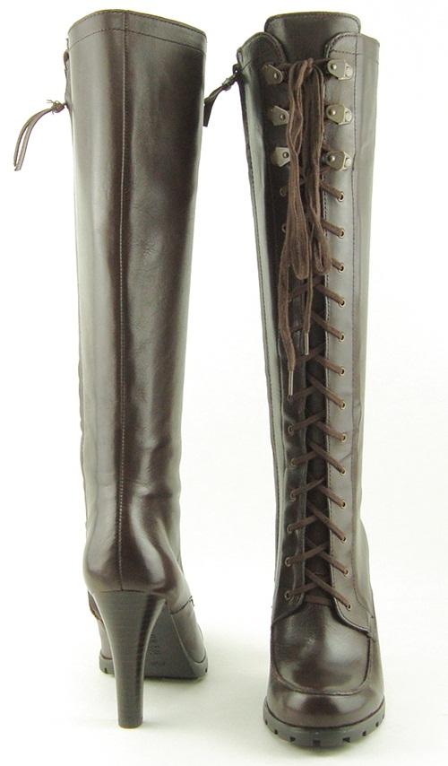 Details about RALPH LAUREN FLORIANE Dark Brown Womens Shoes Boots 5.5